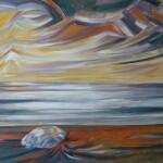 Paesaggio incorniciato9 75x60Il mare al tramonto