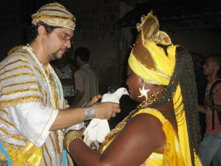 Afoxé Ayó Delê - Xirê Iriti Lonã 2009 - Robson e Rainha de Ijexá