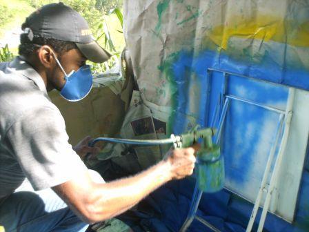 Pintura das cadeiras