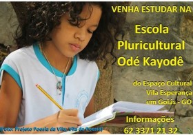 Matricule sua criança na Escola Pluricultural Odé Kayodê