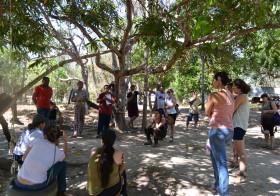 Estudantes do ensino médio e curso FIC do IFG na Chácara Caminho das Águas